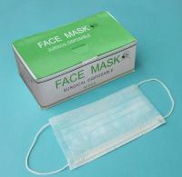 Маска лицевая медицинская 3-слойная на резинке (50шт/уп)