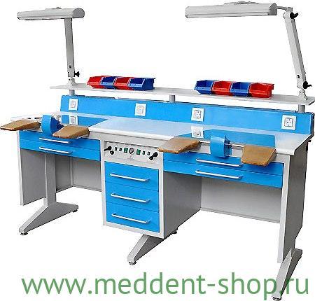 Стол зуботехнический EMLT-6 (2-х местный)
